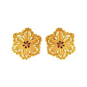 P.C. Chandra Jewellers 22k (916) Yellow Gold Stud Earrings for Women