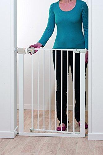 Safety 1st Easy Close Extra Tall Treppenschutzgitter, extra hohes Tütschutzgitter aus Metall zum Klemmen, weiß, bis 94 cm verlängerbar - 3