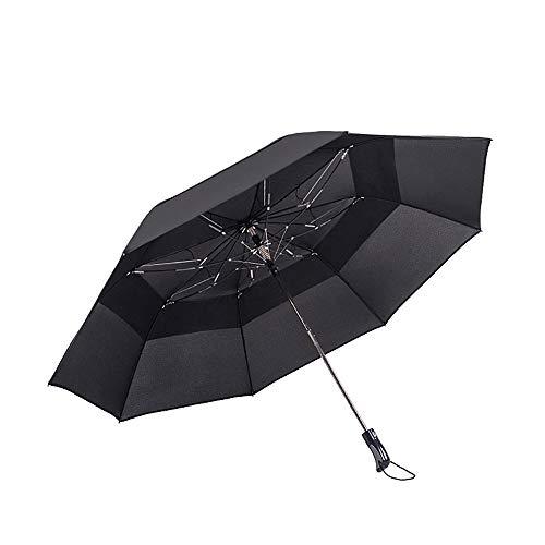 BABY-WZL Winddichte Reise Regenschirm Klappschirm-Auto Close Auto Open - leichte kompakte Regenschirm Easy-Carrying Case und Slip-Proof Griff,Black Taft Slip