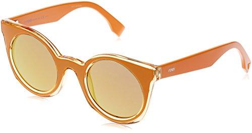 Fendi ff 0196/s pu k9w 48, occhiali da sole donna, giallo (yellow/gold sp)