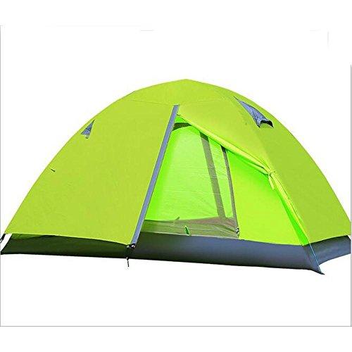 TJ Doppel-Abdeckung Fahrrad Aluminium Schutz im Freien Wind und Regen UV Zelt Camping, grün