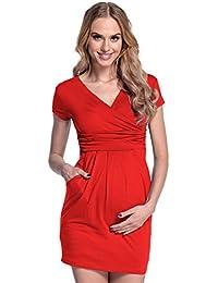 Damen Umstands-Kleid. Schwangerschafts Tulpenkleid mit Taschen. 806p 26b354f03e