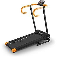 Klarfit Pacemaker X1 nastro tapis roulant professionale (salva spazio, pieghevole, 500 Watt, 10 km/h, display LCD) - arancione - Attrezzature Per Il Fitness Allenamento Tapis Roulant