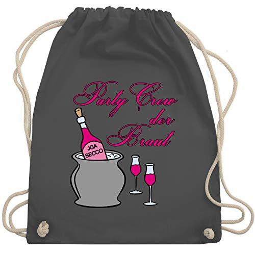 JGA Junggesellinnenabschied - Party Crew der Braut Sekt Party - Unisize - Dunkelgrau - WM110 - Turnbeutel & Gym Bag (Roller Gym Bag)