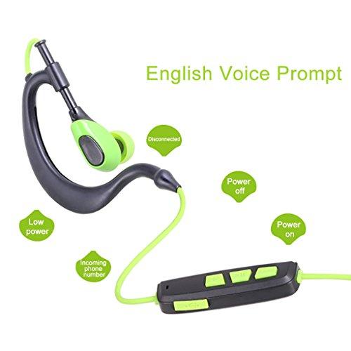 AUSDOM S09 In Ear Kopfhörer Bluetooth Sport Stereo Headset Ohrhörer Wasserdichte mit Mikrofon für iPhone, Android Smartphone - 5