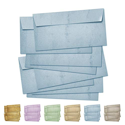 Partycards Sobres | 50 Piezas |Azul|Formato DIN A4 (21,0 x 29,7 cm)|Gramaje 90 g/m² |impresión a Doble Cara, Adecuada para Todas Las impresoras