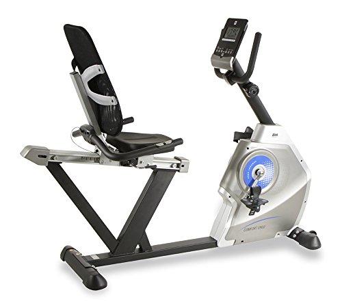 BH Fitness Comfort Ergo H852 Liegeergometer, Liege-Ergometer, 8 Widerstandsstufen, 10 kg Schwunggewicht, mit Pulsmessung, Ideal für Senioren