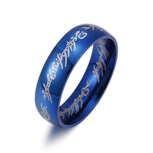 Edelstahl Ring Kreative Magische Brief Drucken Ring Für Männer Frauen Punk Hiphop Cool Ring Größe 6-13 ()