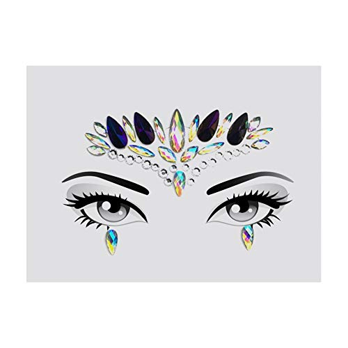 Wovemster Gesichts Makeup - Gesicht Diamant Aufkleber Strass Sticker,Temporäre Tätowierung, Geeignet Musik Festival Urlaub Party Dance Make Up(LS1014)