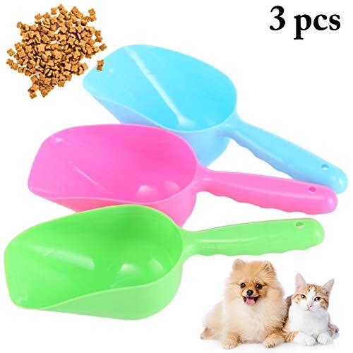 Legendog 3PCS Haustier Essen Scoop Kunststoff Mehrzweck Katze Hund Essen Schaufel Haustier ()