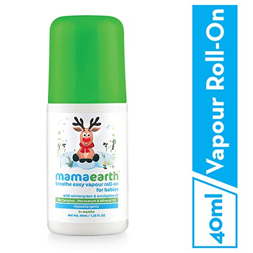 Mamaearth Natural Breathe Easy Vapour Roll-On, 50ml