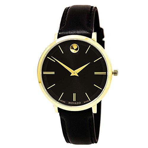 Movado Ultra Slim orologio da donna Quarzo 35mm analogico cinturino in pelle 0607091