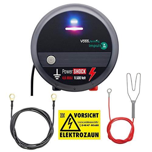 VOSS.farming 230V Weidezaungerät mit PowerShock   gefühlte 8 Joule und 11.500V schlagstarkes Elektrozaungerät für Ihren sicheren Weidezaun