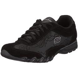 Skechers SpeedsterNottingham 99999478 BLK - Zapatillas de cuero para mujer, color negro, talla 41