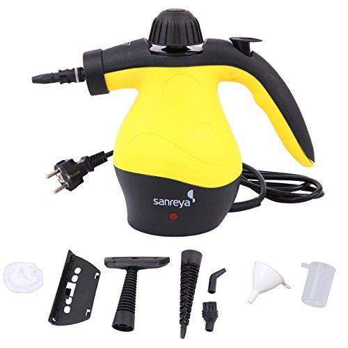 Paneltech 1050 Watt Handheld Nettoyeur à la vapeur, 3 Bar Multi-Purpose Portable Nettoyeur Vapeur Vitre - Nettoyeur a Vapeur Polyvalent avec 9 Pcs Accessoires pour l'enlèvement des taches