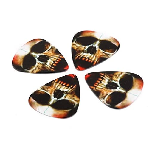 10-Skull-Guitar-Picks-plektrum-Plektron-Plektren-Gitarre-Guitar-073mm