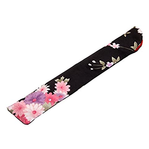1pc Folding Hand Fan Storage Pouch Gift Bag Flower Print