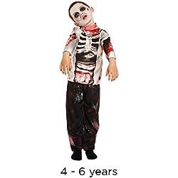 Disfraz infantil Zombie Niño Pequeño 4-6 AÑOS
