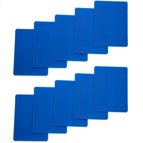 Brybelly Set of 10 Blue Plastic Poker Size
