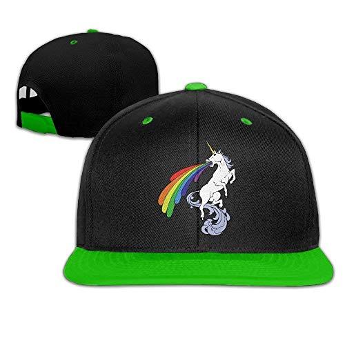 (Spray Rainbow Unicorn Baseball Snapback Hip Hop Cap Personalized for Womens)