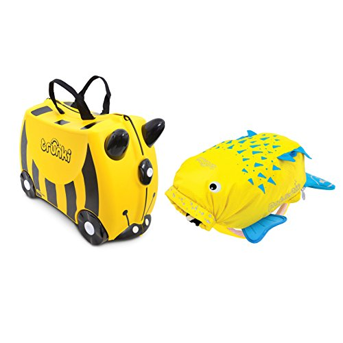 Trunki Ride-on Suitcase und PaddlePak Koffer-Set, 18 Liter, Gelb