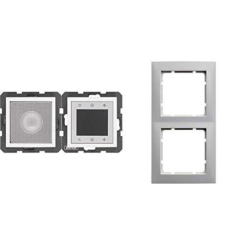 Berker 28808989 Radio Touch S.1/B.3/B.7 & 10128989 Rahmen 2fach S.1 polarweiß glänzend