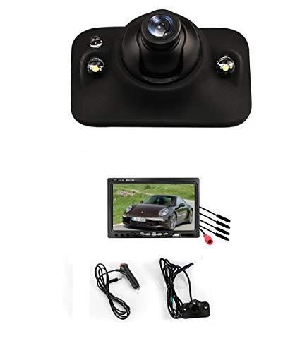 LIDAUTO Rückfahrkamera ersetzen 7-Zoll-Display 4 Kameras IR Nachtsicht Wasserdichtes IP68 Weitwinkel 12V,led