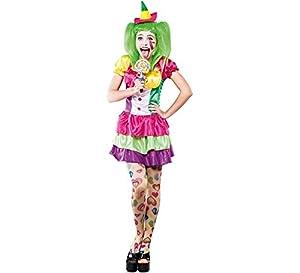Fyasa 706131-t04payaso Mujer Disfraz, Tamaño grande