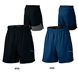 Nike Mens Sportswear Short Pants DRI-FIT Flex Vent Short Mens Binary Blue / Black / (Black) 833371-429 (Medium)