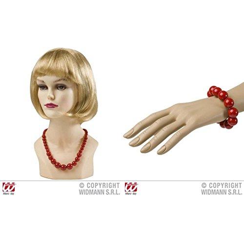 Lively Moments Geniales Perlen - Armband & Kette in Rot im Stil der 50er bis 70er Jahre
