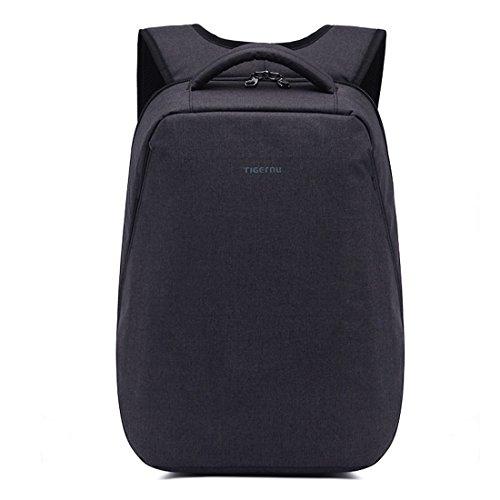yacn leichter Laptop-Rucksack, für Computer–Passform für Notebooks mit bis zu 35,8cm (14,1Zoll) schwarz (Schweizer Computer-rucksack)