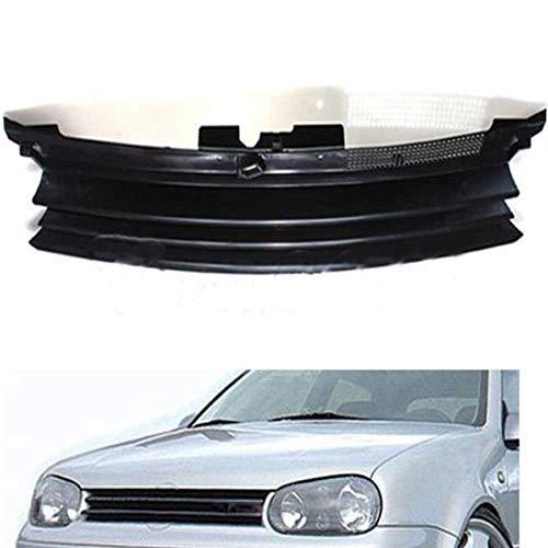 QQKLP Ohne Emblem Debadged Vorder Sport Grill Grill ABS Plastik Fit für Golf 4 MK4 1997 1998 1999 2000 2001 2002 2003 2004,Schwarz