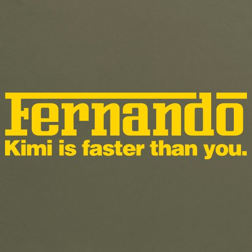 Kimi vs Fernando T-Shirt, Herren Olivgrn