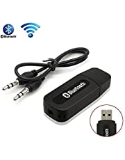 EVERYTHING IMPORTED 3.5 mm Bluetooth Stereo Adapter Audio Receiver with Dongle Transmitter USB Mp3 Speaker (Random Colour)