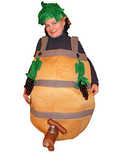 Weintraube Kostüm - Wein-Fass Kostüm, SY27/00 Gr. M-XL, Weinfass-Kostüme Wein-Kostüme, Wein-Faschingskostüm, Fasching Karneval, Faschings-Kostüme, Geburtstags-Geschenk Erwachsene
