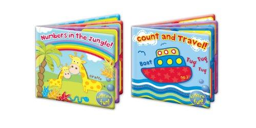 Badebuch Baby wasserdicht Schwimmende Educational Bad, Spielzeug 'Erste Schritte, 2Stück