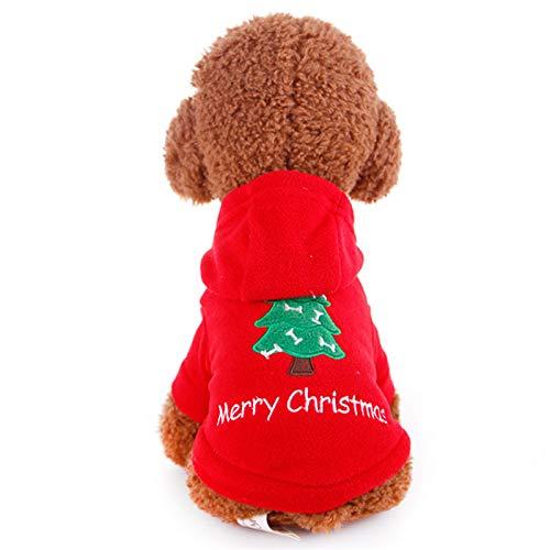 BAONUAN Haustier Kleidung Haustier Hund Kleidung Weihnachtskostüm Cute Cartoon Kleidung Für Kleine Hundetuch Kostüm Kleid Xmas Bekleidung Für Kitty Dogs, XL