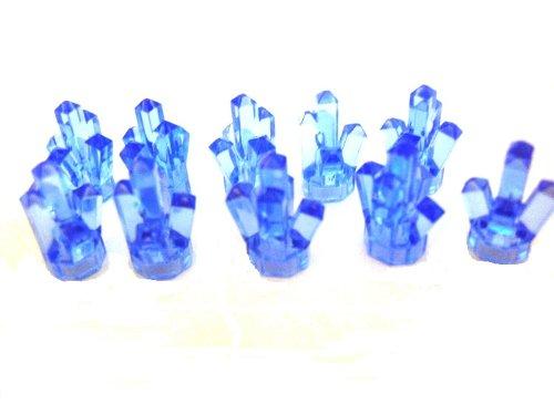 Crystal-kristall-palast (LEGO City - 10 Power Miners Kristalle im seltenen transparent mittelblau)