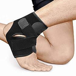 BRACOO Fußbandage – Sprunggelenkbandage – Knöchelschutz – Fußgelenkbandage | Fußgelenkstütze mit Klettverschluss | FS10 | S/M
