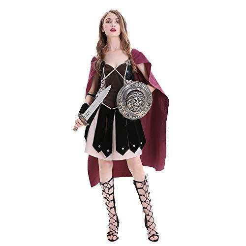 OLKWG Conqueror Warrior Kostüm Halloween Römischer Soldat Kostüm Adult Roman Warrior Kostüm,M (Frau Soldat Halloween Kostüm)