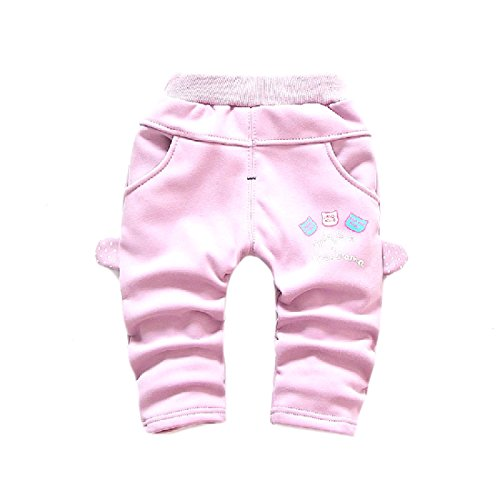 Tootlessly Little Girl Suede Thickening 100% Cotton Floral Crop Leggings