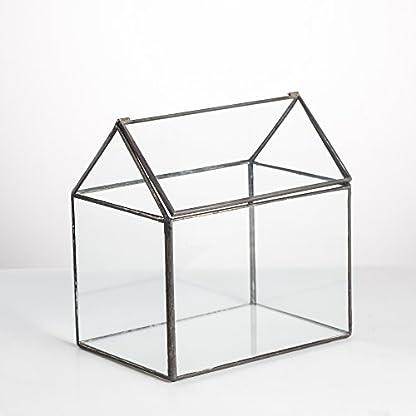 NCYP House Shape Close Glass Geometric Terrarium Wedding Centerpiece Tabletop Succulent Air Plants Planter Window Sill… 7