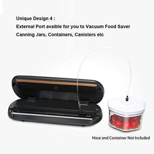 Vakuumierer, KitchenBoss Vakuumiergerät Lebensmittelverpackungsmaschine für Lebensmittel, Fleisch,Früchte, natürliche Aufbewahrung ohne Konservierungsstoffe,Vakuumregulierung,inkl. 5 gratis Profi-Folienbeutel (rote) - 5