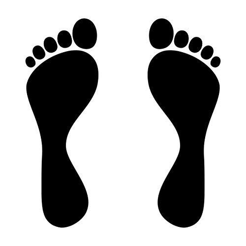 4 Füße Fußabdruck Fußspur Aufkleber Tattoo die cut Auto Heck Deko Folie (Fußabdruck-aufkleber)
