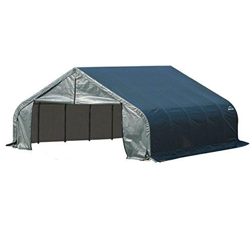 Shelter Logic Foliengarage Garage 33,55 m² grün // 550 x 610 x 270 cm (BxTxH) // Autozelt, Allzweckgarage und Überdachung