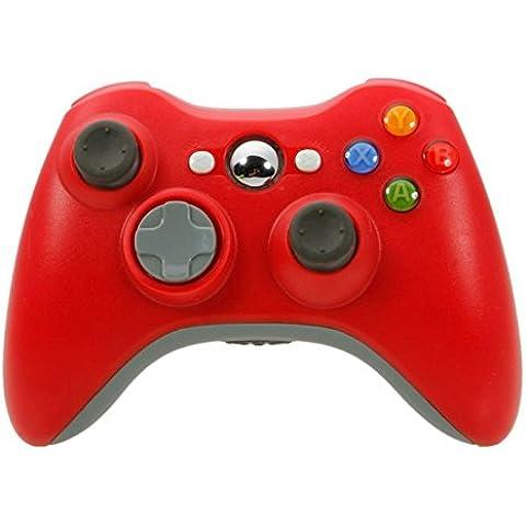 Althemax® Nuevo sin cuerda sin hilos del juego del choque Joypad Controller para Xbox 360 - Rojo