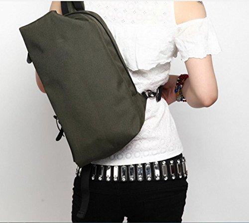 Lässig Mann Tasche Kreative Art Und Weise Schulterkurierbeutel Weibliche Beiläufige Tasche Brust black