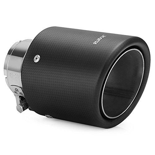 Rupse Universal-Schalldämpfer, Edelstahl Kohlefaser Schalldämpfer für Auspuff Schwanz End Rohr Aufsätze 1 Stück 102MM