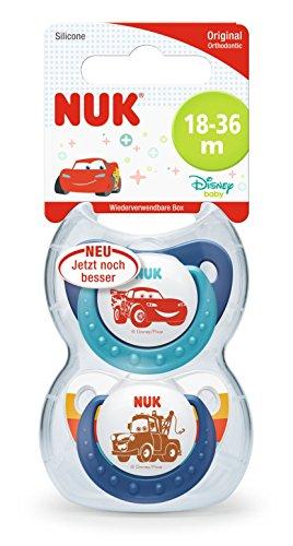 Pixar Cars Trendline Schnuller, kiefergerechte Form, 18-36 Monate, 2 Stück, blau ()