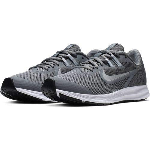 Nike Unisex-Kinder Downshifter 9 (gs) Leichtathletikschuhe, Mehrfarbig (Cool Metallic Silver/Wolf Grey 000), 35.5 EU